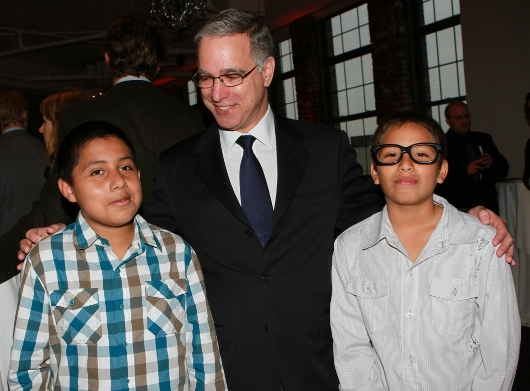 Paul Ziff with Project Kids, Edwin Rodriguez and Richard Brea
