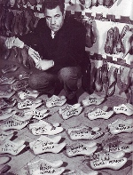 Salvatore Ferragamo With His Famous Lasts