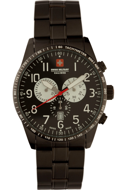 Swiss Military Calibre Mens 06-5R4-13-007 Red Star Chronograph