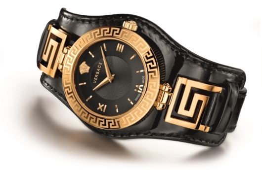 Versace V-Signature Watch Black