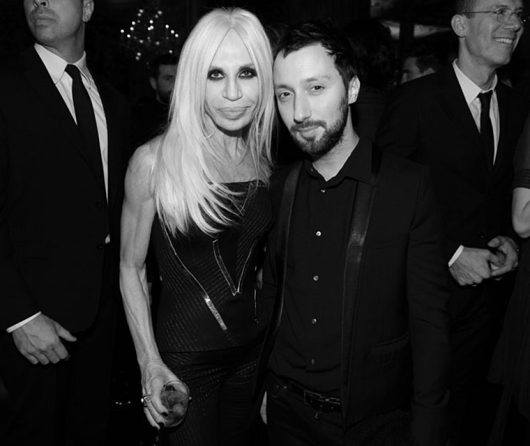 Anthony Vaccarello and Donatella Versace