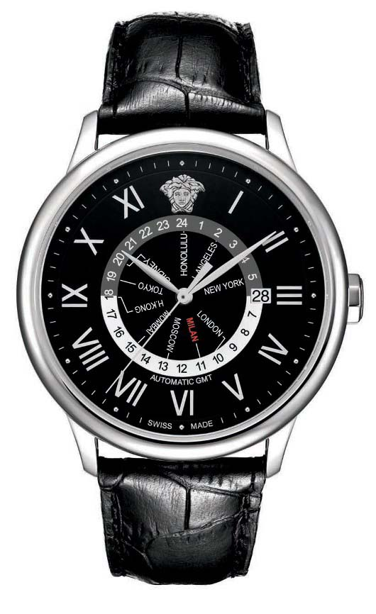 Versace Business GMT Black Dial Introduced at Baselworld 2012 - 30A99D008 S009