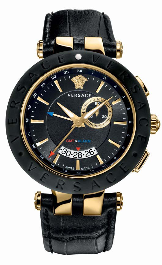 Versace V-Race GMT Alarm Introduced at Baselworld 2012 - 29G7S9D009 S009