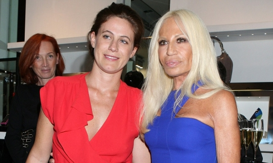 Francesca and Donatella Versace