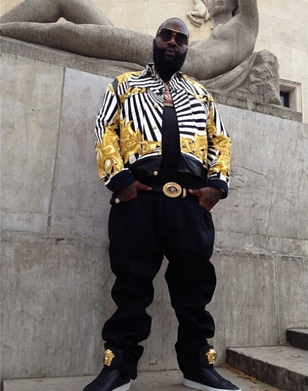 Rick Ross Wears Versace From Head to Toe