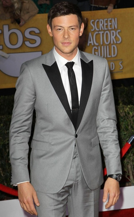Cory Monteith Sporting a Versace DV One Cruise at the SAG Awards