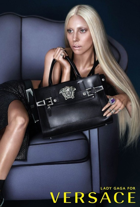 Lady Gaga for Versace Spring 2014
