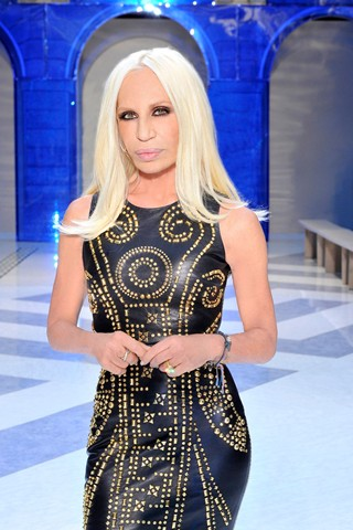 Donatella at Versace for H&M Launch