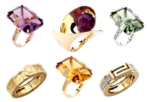 Beautiful Rings from the Versace Atelier Collection