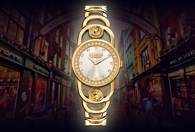 Versus Versace V-Carnaby Crystal Watch Collection