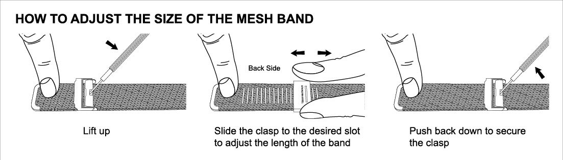 How to Adjust a Mesh Watch Band