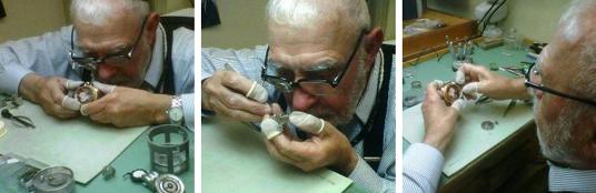 Expert Watchmaker at Work