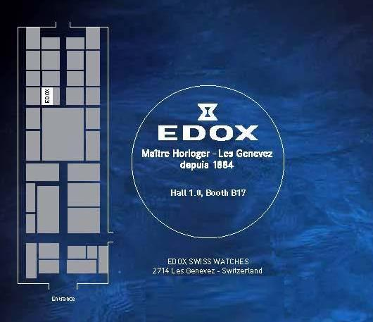 Invitation to the Edox Exhibit, March 8-15, 2012 at Baselworld 2012, Hall 1.0, Booth B-17