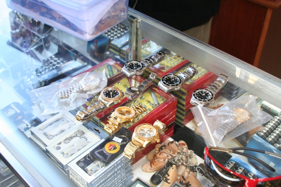 Counterfeit Watches Seized in 2009 by the Gresham, Oregon Police Department