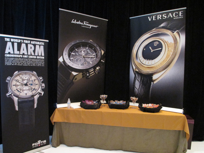 Fortis, Ferragamo and Versace Couture Time Banners