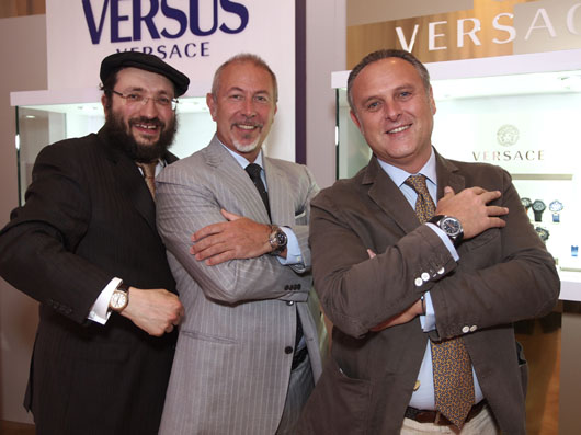Samuel Friedmann With Vertime President Paolo Marai and Jon Luigi