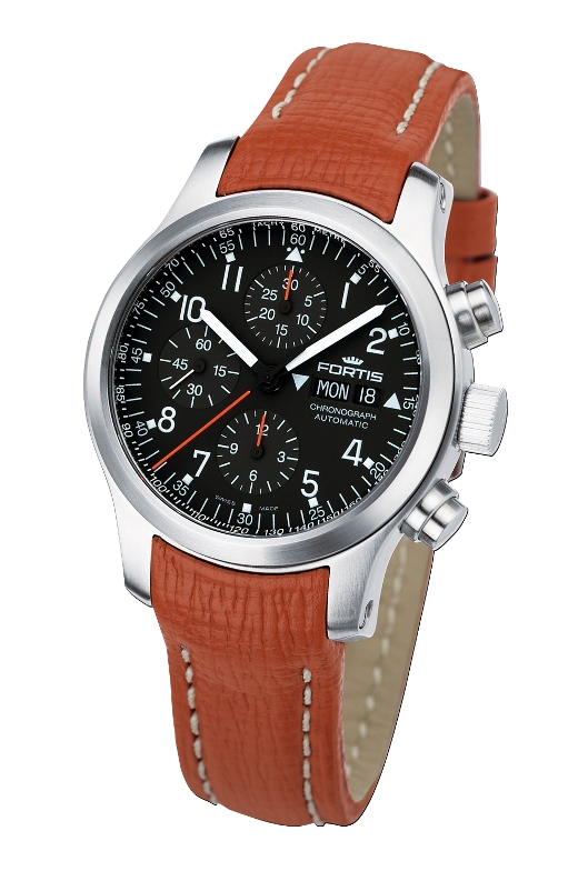 Fortis Mens 635.10.11.M B-42 Pilot Professional Chronograph Watch