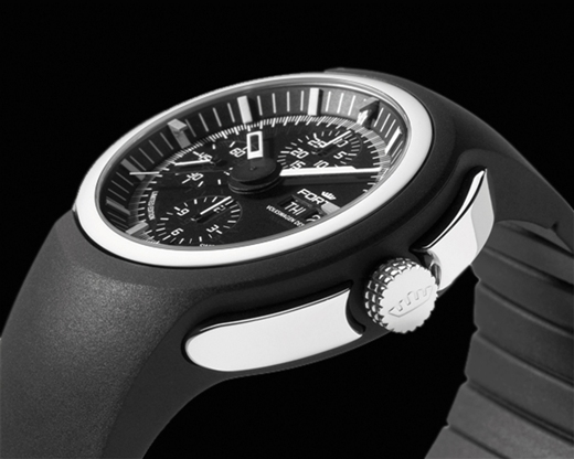 Fortis Mens 2012 661.20.31 K Spaceleader Limited Edition Luxury Swiss Chronograph Watch by VolkswagenDesign - Side View