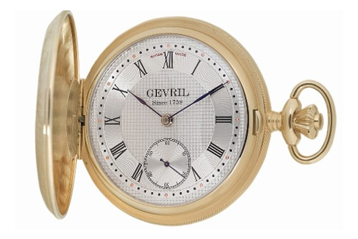 Gevril Mens G624.950.56 Swiss Pocket Watch from the 1758 Collection