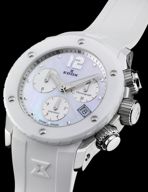 Edox Ladies 10403 3B NAIN Luxury Swiss Chronolady Class-1 Watch
