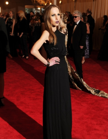 Allegra Versace On The Red Carpet At The Met Ball 2013