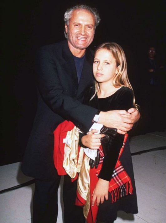 Allegra With Her Uncle Gianni Versace in 1997