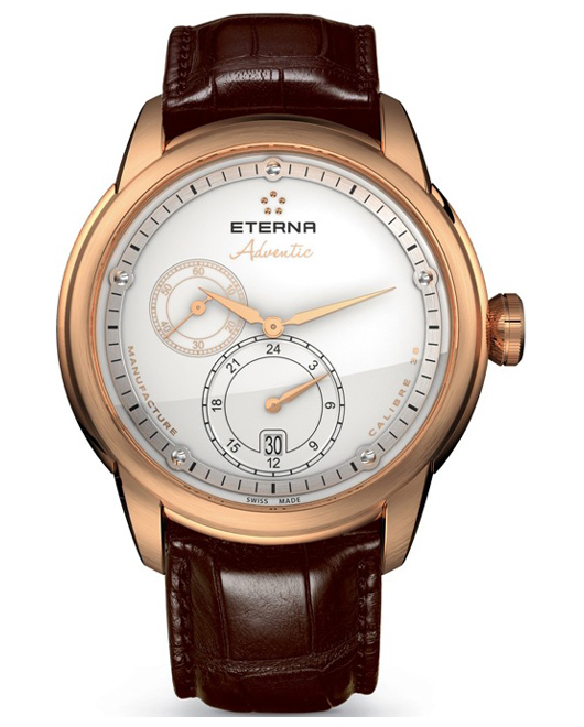 Eterna Mens 7660.69.67.1274 Adventic Spherodrive Automatic Limited Edition Rose Gold White Dial Watch
