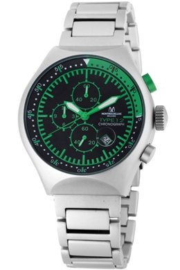 Avio Milano Mens 45 MM TP GREEN 45MM Collection Chronograph Watch