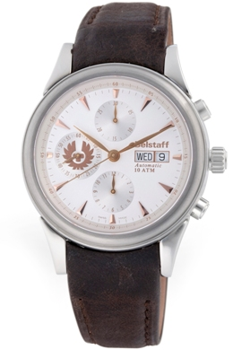 Belstaff Mens BLF1004AA Vintage Collection White DIal Chronograph Watch