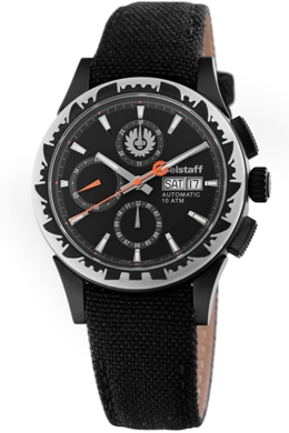 Belstaff Mens BLF2007AA Adventure Collection Black Dial Chronograph Watch