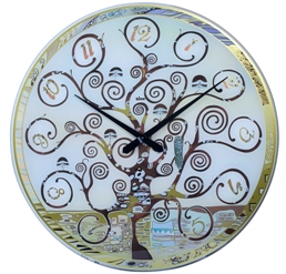 Bino Venice 026530AA Albero Della Vita Collection Tree Design Blue Dial Oversized Handmade Analog Clock