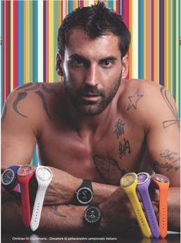 Italian Basketball Star Christian Di Giuliomaria Displaying Boxer Milano Watches