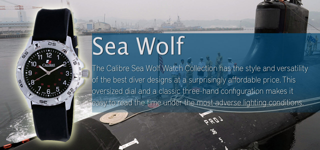 Calibre Sea Wolf Watch Collection