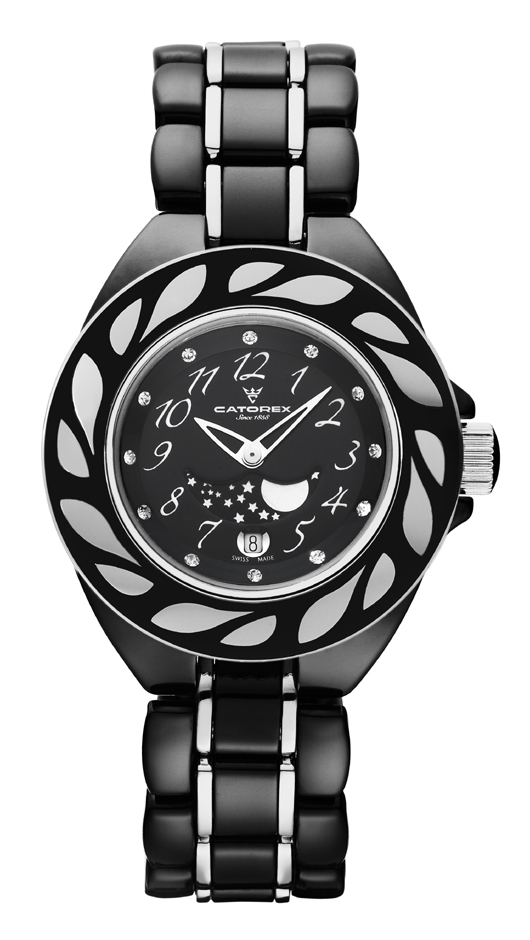 Catorex Ladies C-Pure Quartz Black Watch
