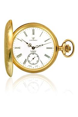 Catorex Mens 171.6.1634.110 Les Breuleux Collection Automatic White Dial Pocket Watch