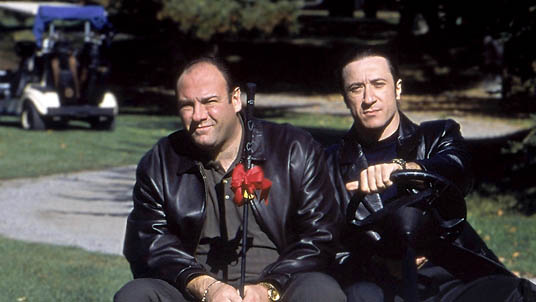 Federico Castelluccio and James Gandolfini in The Sopranos
