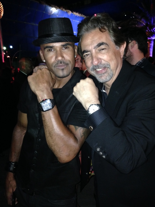 Joe Mantegna with Co-Star Shemar Moore