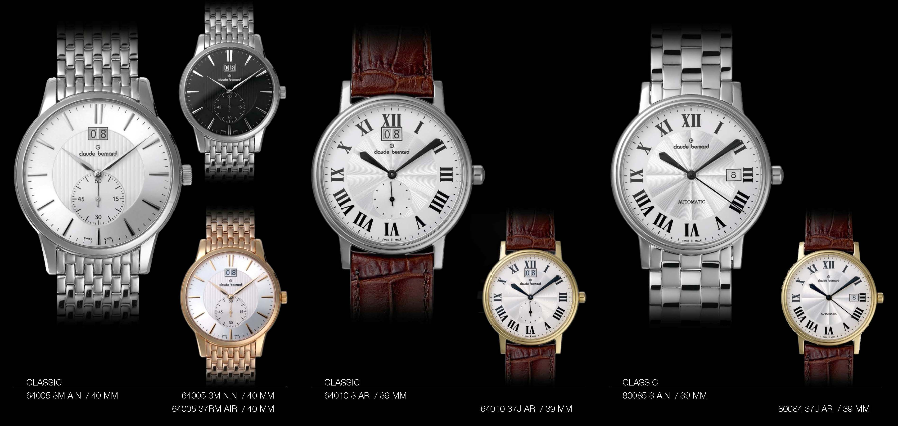 Claude Bernard Swiss-Made Watches Classic Collection