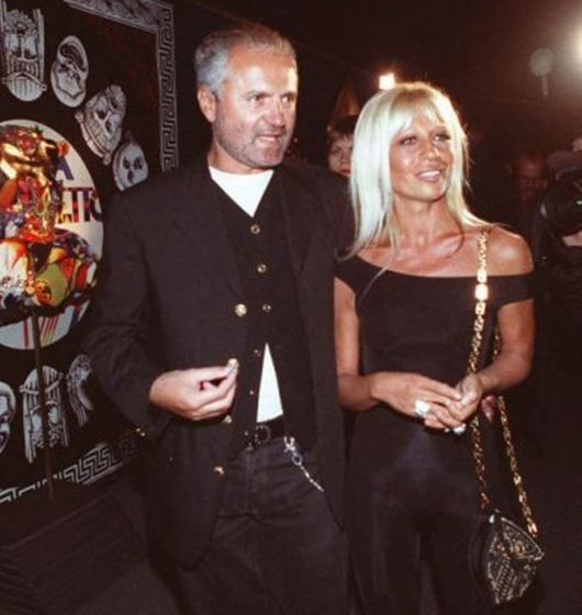 A Much Younger Donatella With Gianni In The '80s