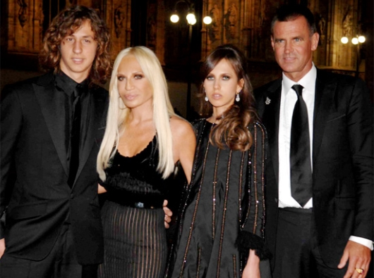 Donatella With Her Children and Ex-Husband Paul Beck
