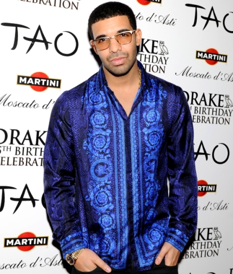 Drake Wears Versace Silk Shirt