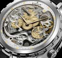 Edox Mens 87003 3 AID Limited Edition Cape Horn 5 Minute Repeater Watch - Skeletonized Movement