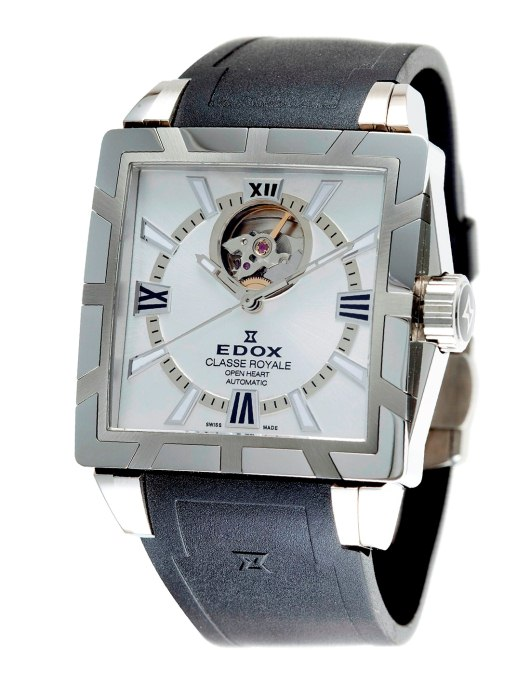 Edox Mens 85007 3 AIN Classe Royale Open Heart Automatic