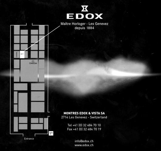 Edox Swiss Watches at BaselWorld 2011 - Finding Edox