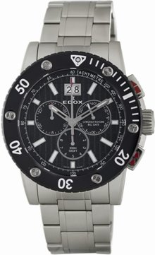 Edox Men's 10014 3N NIN Class-1 Black Big Date Chronograph Watch