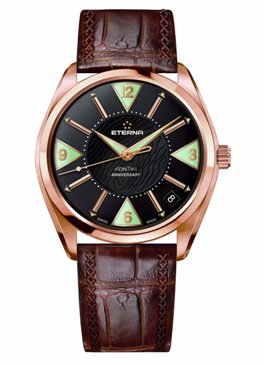 Eterna Mens 1210.69.43.1183 KonTiki Rose Gold Limited Edition Anniversary Watch