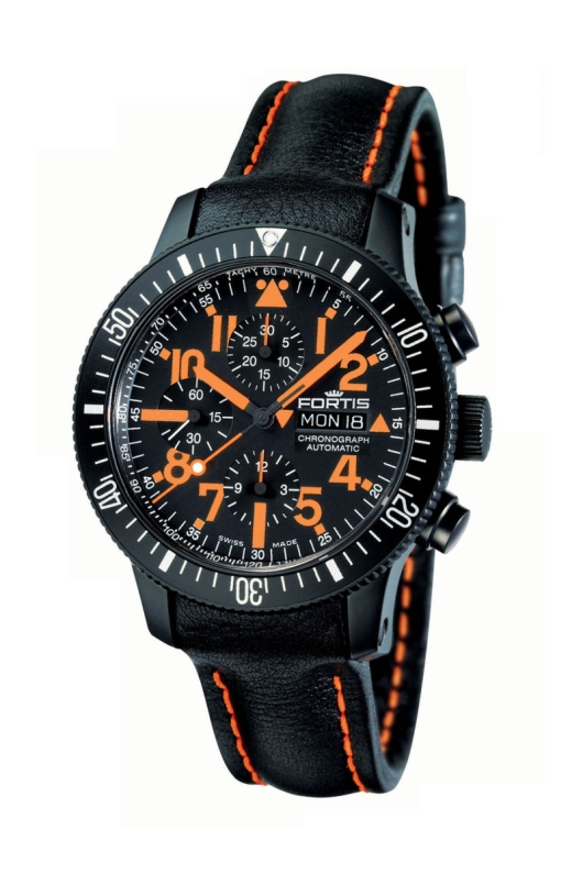 Fortis 638.28.13 L.13 B-42 Black Mars 500 Chronograph Watch