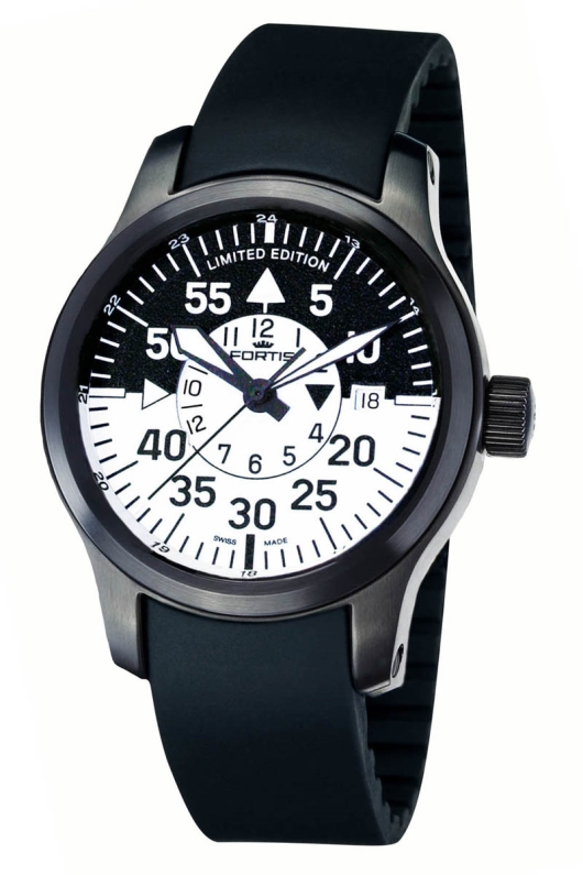 Fortis 672.18.11 K B-42 Black Cockpit GMT