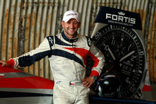 Petr Kopfstein With his Fortis Watch and Famous Fortis Tail