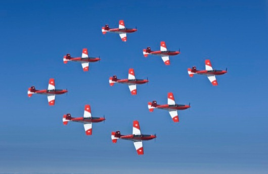 Swiss Air Force PC-7 Aerobatics Team
